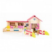 Jeujura Pony Club - 180 Piece Wooden Construction Set
