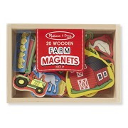 Melissa & Doug Wooden Farm Magnets, Multi Color