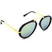 Redleaf Wrap-around, Aviator Sunglasses(Silver, Golden)