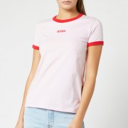 Levi's Women's Perfect Ringer T-Shirt - Pink Lady - M - Pink
