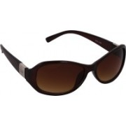 Pede Milan Oval Sunglasses(Brown)