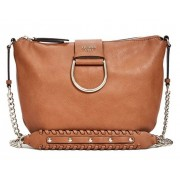 Guess Fynn Saddle Crossbody maro