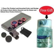 Mobile camera Lens 3 in 1 with Free Cleaning Kit For Mobile Laptop Computer