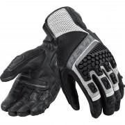 REV'IT! Motorradschutzhandschuhe, Motorradhandschuhe kurz REV'IT! Sand 3 Handschuh schwarz/silber L silber