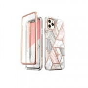 Carcasa stylish Supcase Cosmo iPhone 11 Pro Max cu protectie display, Marble