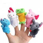 Tradico® 10Pcs a Set Baby Children Kids Plush Animal Finger Biological Puppets Play Learn Story Telling Tale Toys Dolls One Piece