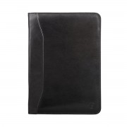 Hochwertige Leder Dokumentenmappe in Schwarz - Businesstasche, Aktentasche, Dokumententasche, Laptoptasche