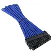 Cablu prelungitor BitFenix Alchemy 24 pini ATX, blue/black, BFA-MSC-24ATX30BK-RP