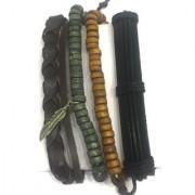 Digital Dress Room Men Bracelet Accessories Multilayer Multi color Leather Leaf Charm Beads Braded Wrap Wrist Bands Unsex Boys Fashion Artifical Imitation Costume Jewellery