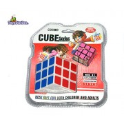 Toyzstation 3 X 3 X3 Cube with Free Cube Key Chain, Turns Quicker and More Precisely Than Original; Super-durable With Vivid Colors; Best-selling 3x3 Cube; Easy Turning and Smooth Play