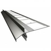 K40 Profil aluminiowy balkonowy i tarasowy 2.0m szary RAL 7037 - listwa balkonowa okapnikowa szara