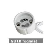 GU10 kerámia foglalat 230V , beépíthető