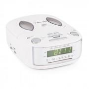 Dreamee SL Radiowecker mit CD-Player UKW/MW AUX Dual-Alarm weiß
