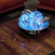 Langdon European 3 lampade a luce LED bianca e colorata