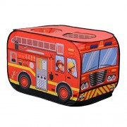 Kid Play Tent House Children Fire Engine Toy Playground Indoor Outdoor Vehicle Pop-up Truck Playhouse by Acekid