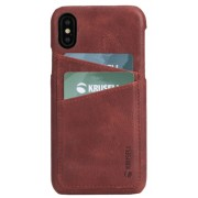 Protectie Spate Krusell Sunne Cover 2 Card KRS61501 pentru Apple iPhone XS Max (Rosu)