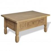 vidaXL Холна маса с чекмедже, мексикански стил, борово дърво