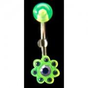 Piercing de nombril Fleur verte