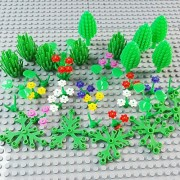 SPRITE WORLD Block Parts Compatible for LEGO Garden Flower Tree Plant Set Building Toy Trees Plants Flowers