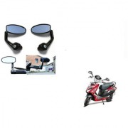 Kunjzone Premium Quality Motorycle Bar End Mirror Rear View Mirror Oval for Hero Maestro Edge