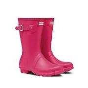 Hunter-Regenlaarzen-Boots Original Short-Roze
