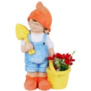 Wonderland Boy with bucket & spade pot planter planters container for garden dcor home decoration items garden pots and planters balcony decoration gift childrens room dcor