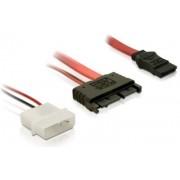 Cablu Micro SATA - conexiune Sata+alimentare Delock