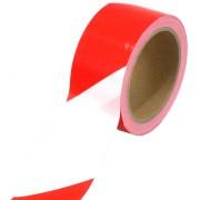 Охранителна лента (сигнална) червено/бяла 100 м.