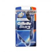 Gillette Blue3 holicí strojek 6 ks pro muže
