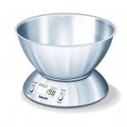 Beurer Ks 54 Bilancia Da Cucina Con Timer Capacità 1,5 Litri Inox