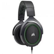 Слушалки с микрофон corsair gaming hs50, жични, 3.5 mm аудио жак, зелен/черен, ca-9011171-eu