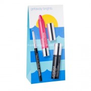 Clinique Getaway Brights Kit 4ml за Жени - спирала Chubby Lash 4 ml + молив за очи Quickliner For Eyes Intense 0,28 g Intense Ebony + червило Chubby Stick Lip Balm 3 g Plushest Punch Нюанс - Jumbo Jet