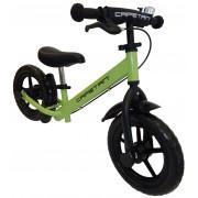 """Capetan® Neptun Zöld színű, fékkel ellátott 12"""" kerekű futóbicikli sárhányóval és csengővel - pedál"""