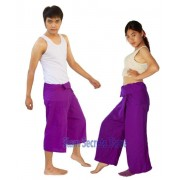 Purple Thai fisherman Pants Yoga Wrap Trousers 2 Lengths