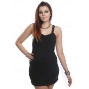 Czarna mini sukienka CRUSIFIX TOP marki Vixxsin
