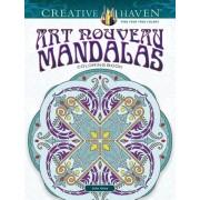 Creative Haven Art Nouveau Mandalas Coloring Book, Paperback
