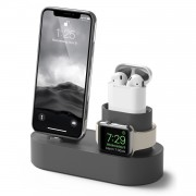 3 in 1 Charging Dock Station Phone Stand Holder for iPhone Airpods Apple Watch - Grey