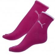 Puma 2PACK ponožky Puma tmavě růžové (203201001 477) S