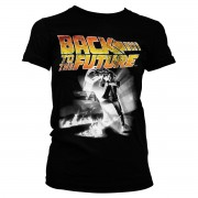 Back To The Future Poster Girly Tee