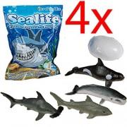 Bargains-Galore 4 X Growing Sealife Egg Hatching Magic Toy Gift Xmas Kids Fun Sharks Water New