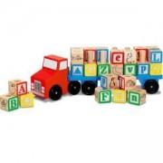 Детски дървен тир с букви - 15175 - Melissa and Doug, 000772151757