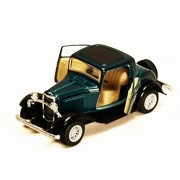 Kinsmart 1:34 Scale 1932 Ford 3 Window Coupe, green