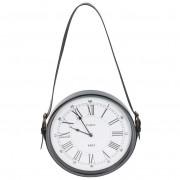 Zegar ścienny metalowy NA PASKU retro loft 30 cm