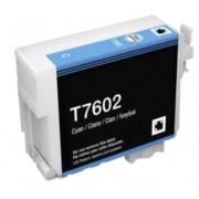 Epson CARTUCCIA T7602 CIANO COMPATIBILE ORCA INK PIGMENTATO PER EPSON SureColor SC-P600 C13T76024010 32ml