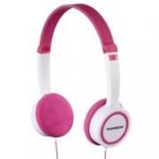 Слушалки Thomson HED1105P, микрофон, Бял / Розов
