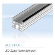 LED Z22W ALUMINIJSKI PROFIL 2M