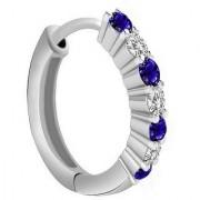 PeenZone 92.5 Silver Saniya Nose Ring (Bali) For Women Girls