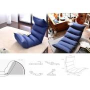 Vloerstoel - Yoga meditatie kussen mat - loungekussen - verstelbaar -blauw
