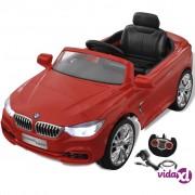 vidaXL BMW Autić za Djecu s Baterijom i Daljinskim Upravljačem Crveni