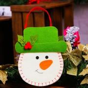 Creativo Cartoon Nuevo Estilo Bolsa De Regalo De Navidad Decoracion Santa, Snowman Patron Tejido No Tejido Bolso Bolsos